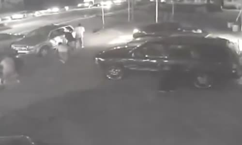 Gang Shootout at Parking Lot Caught on CCTV