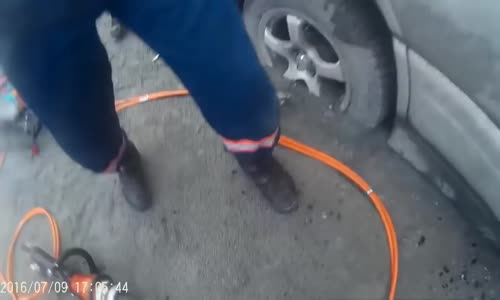 Rescue service at work in Russia