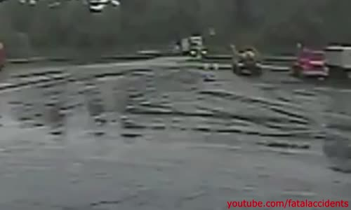 Train Crashes into Truck - Fireball