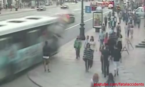 Spectacular Bus Accident Caught on Multiple Cameras