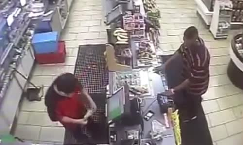 Thug Attacks_Robs Store Clerk