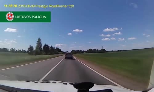Police chase driver with James Bond tactics