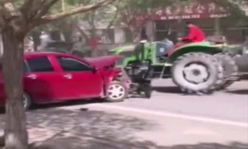 Farmer totalled illegally parked cars