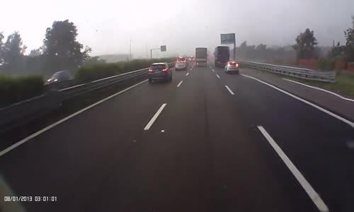 F4 Tornado crosses highway A4 in Italy
