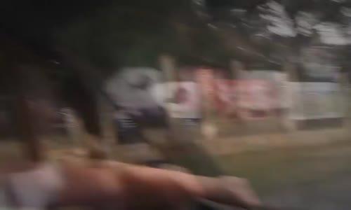 Bunch of idiots hit a Mercedes