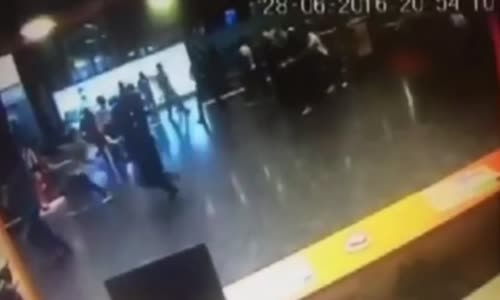 Istanbul Atatürk Airport attack footage compilation