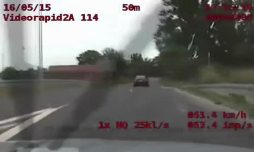 Police Chase BMW drug dealers in Poland