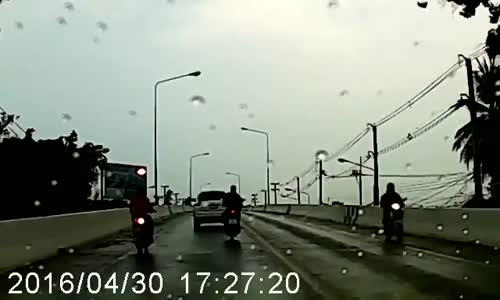 Scooter head-on into oncoming pickup
