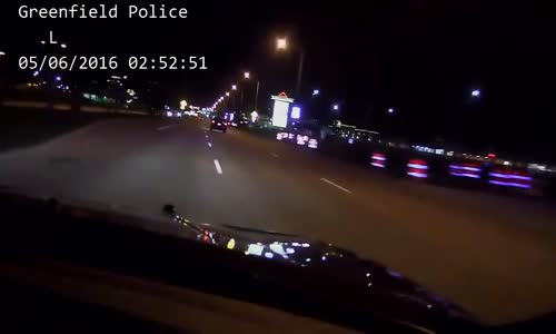 Stolen car Police chase with high speed PIT