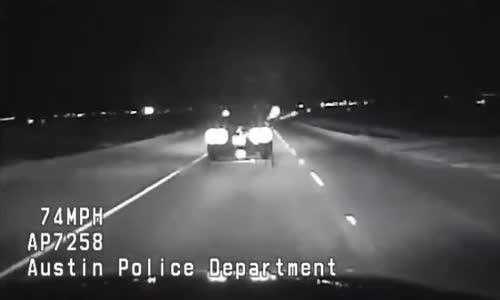 Austin Police fire a GPS unit at fleeing car