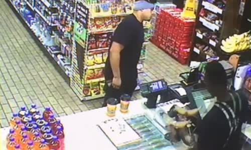Customer Stays Cool During Armed Robbery