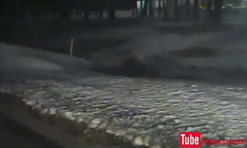 Car wrecks and erupts into flames after high speed police chase