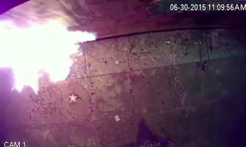 CCTV Shows Arsonist Defacing LGTB Mural