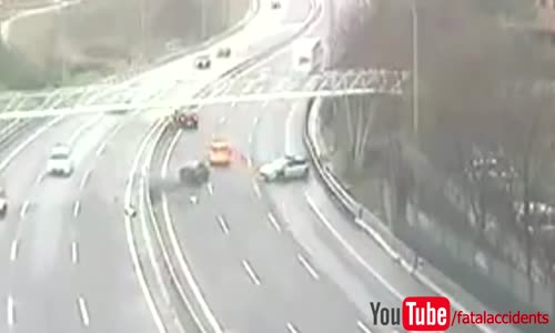 Scary accident on spanish highway