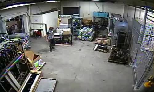 Two Morons Cover Their Heads After Breaking Into Business