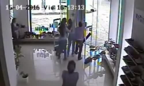 F4 Tornado CCTV from inside a store
