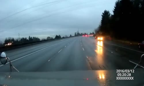 Pickup driver PITs himself cutting off a semi