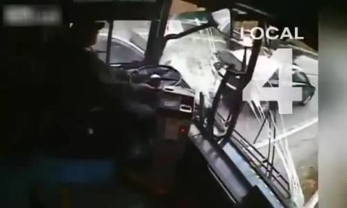 Bus driver falls asleep at wheel in Detroit