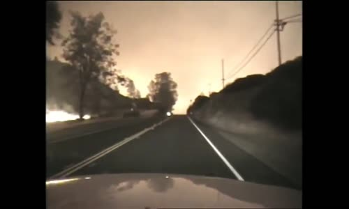 Intense Drive Through California 'Valley Fire'