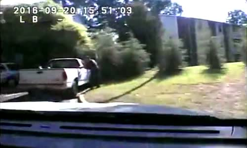 Keith Lamont Scott fatal police shooting (2 angles)