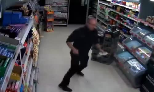 PCSO takes on knife-wielding robber with a shopping basket