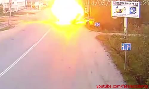 Car Explodes On Impact