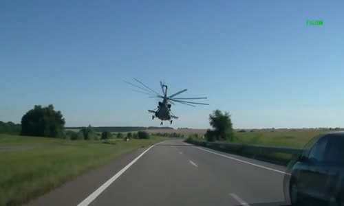 Chopper Cruising above the Highway