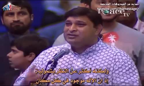 شخص يطلب مناظرة ذاكر نايك علي الهواء امام الجميع ورد مفاجئ  من الشيخ