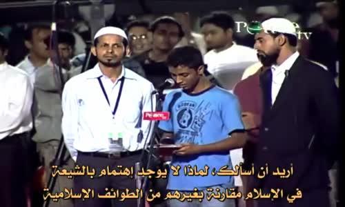 طالب هندي  يسأل عن الطوائف الاسلامية و الشيعة   صدام حسين  يجيب د  داكر نايك