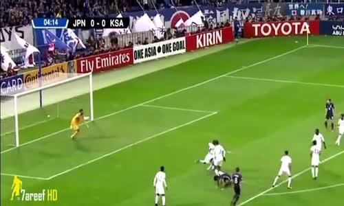 ملخص وأهداف مباراة اليابان 2-1 السعودية -  تصفيات كأس العالم - آسيا 15-11-2016