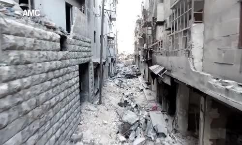 هكذا يبدو المشهد بحي الشعار في #حلب !