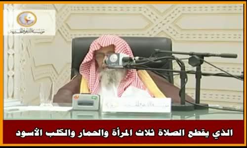 الذي يقطع الصلاة ثلاث المرأة والحمار والكلب الأسود - الشيخ صالح الفوزان 