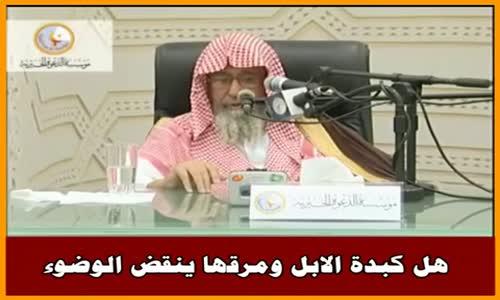 هل كبدة الابل ومرقها ينقض الوضوء - الشيخ صالح الفوزان 