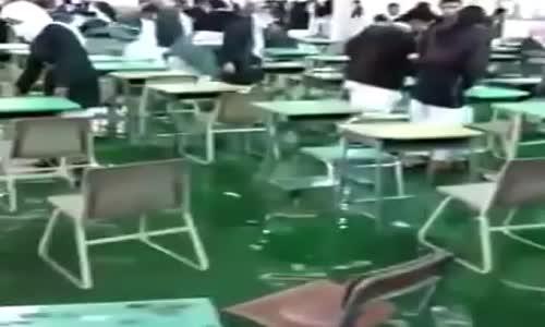 غرق قاعه اختبارات في السعوديه