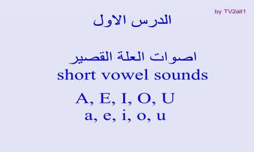 الدرس الاول _ تعلم نطق اصوات اللغة الانجليزية Learn pronunciation