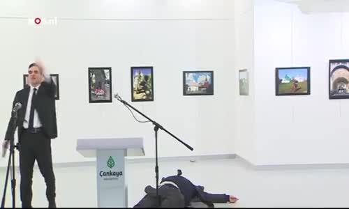 شاهد فيديو اغتيال السفير الروسي في  تركيا