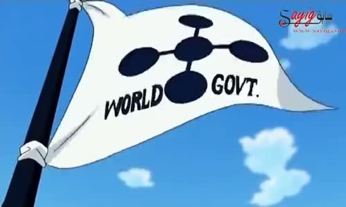 طاقم قبعة القش يحرقون علم حكومة العالم
