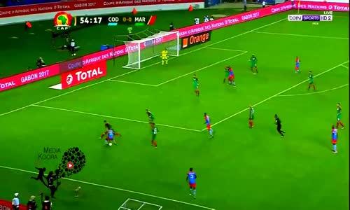 اهداف مباراة المغرب والكونغو الديمقراطية 0-1 شاشة كاملة ( كاس امم افريقيا 2017 ) HD