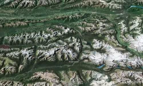 فيديو جميل عن التزلج بالقرب من بحيرة لويس بألبرتا