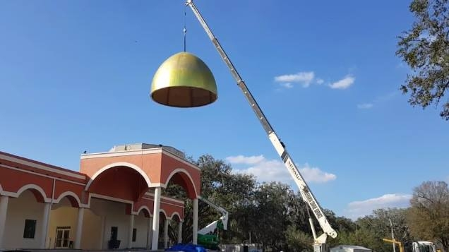 Tampa masjid  installing dome video ISTBA