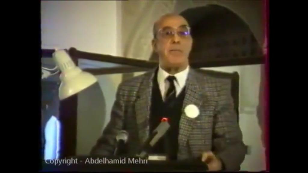 عبدالحميد مهري من هو رئيس الجمهورية ؟ كلمات قوية جدا و واضحة