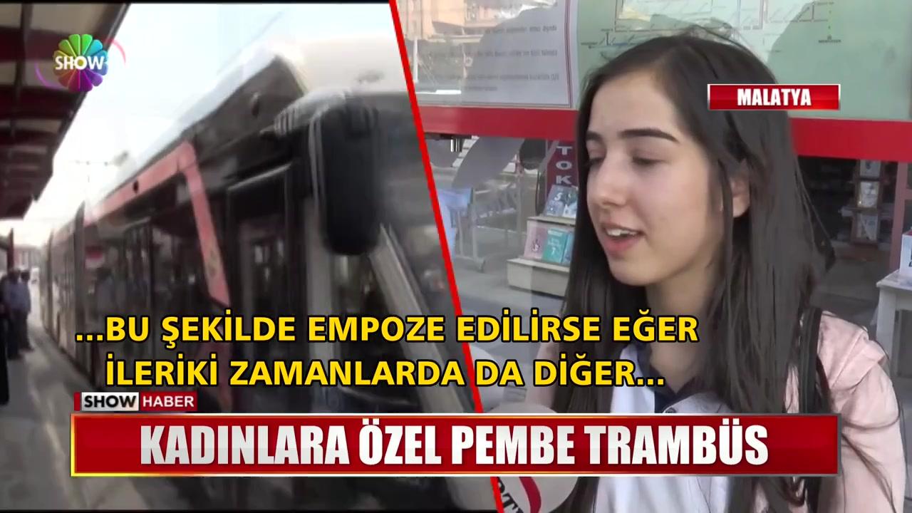 حافلات وردية اللون خاصة بالنساء في مدينة ملاطيا  في تركيا