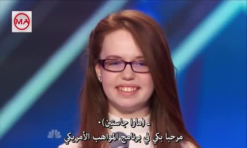 فتاة تبهر لجنة التحكيم بصوتها_ برنامج المواهب الامريكي..مترجم
