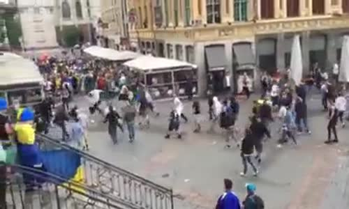 Germany vs Ukraine 12/06/2016  Hooligans Fighting