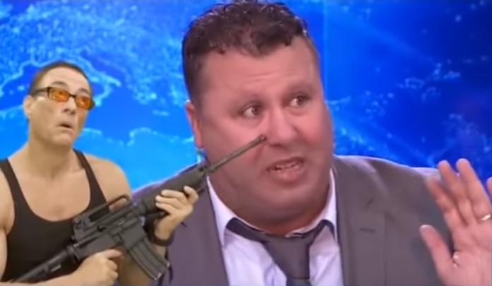 الكاميرا الخفية رانا حكمناك VIP عارف مشاكرة يهدد بحمل الكلاش و تفجير ستوديو النهار على طريقة داعش