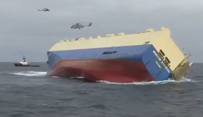 Drifting unmanned cargo ship set to hit French coast if final rescue bid fails
