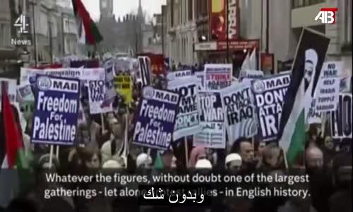 The biggest demonstration in history أكبر تظاهرة في التاريخ
