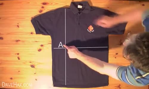 كيف تطوي قميصك في اقل من ثانيتن ابداع