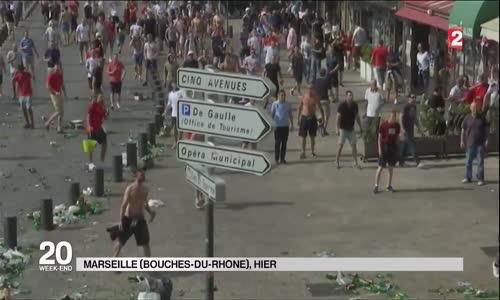 Euro Foot 2016 Marseille _ Guerre des Hooligans Russie vs Angleterre