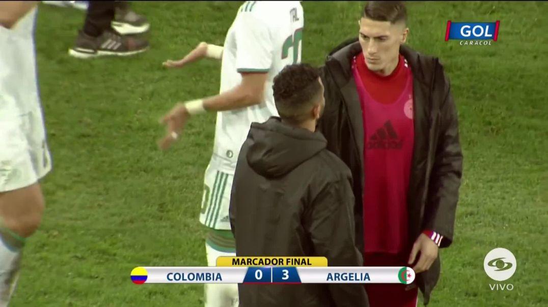 رياض محرز ضد كلومبيا الجزائر 3 كولومبيا 0